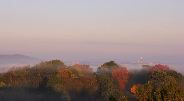 [Explored] Canberra misty morning panorama