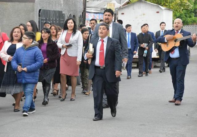 Juventud de Lirquén visita congregación de Cabrero