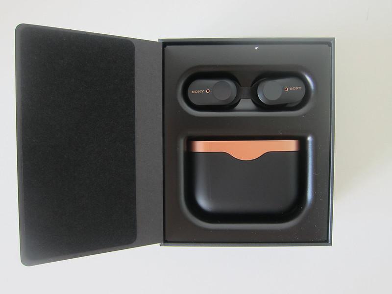 Sony WF-1000XM3 Earbuds - Box Open