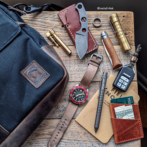 GiantMouse GMF1-F, Opinel, Fellhoelter TiBolt, NutSac Bags Satchel 15 | by edcbyfrank