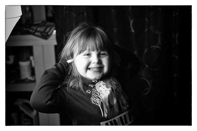 Leona's first modeling gig...
