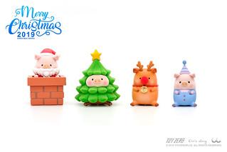 與LuLu小豬一起肥萌過聖誕!TOYZEROPLUS x 罐頭豬LuLu 聖誕系列「Paradise限定配色版」全台限量500組