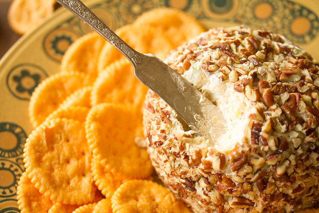 Closeup of Pineapple-Pecan Cheese Ball