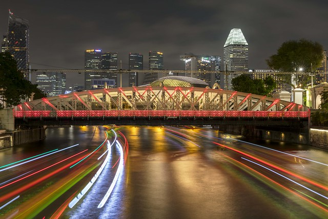 Light Trails under Anderson Bridge