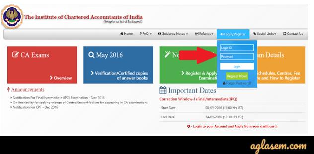 CA intermediate 2020 login
