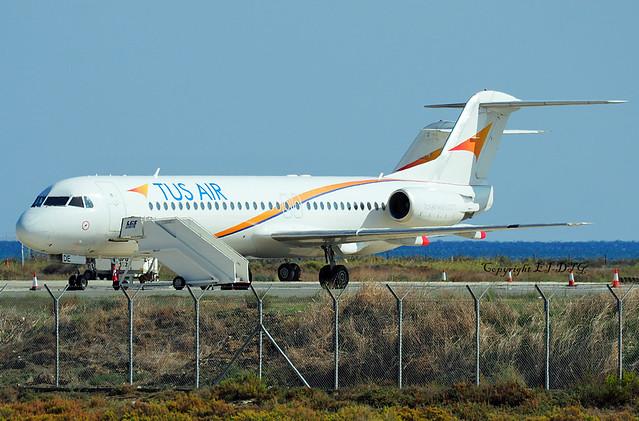 Fokker F-100 5B-DDE TUS Airways