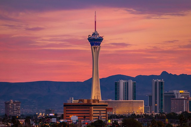 Stratosphere At Dusk. Las Vegas can be unusually beautiful sometimes.