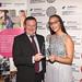 Volunteer of the Year Award Winner Zuleikha Chikh with Mick Smith from Sponsors, Newground