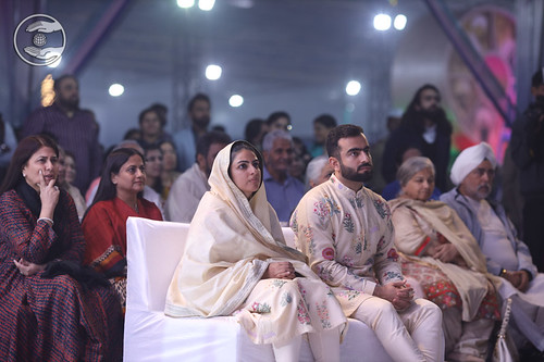 Satguru Mata Ji watching the skit