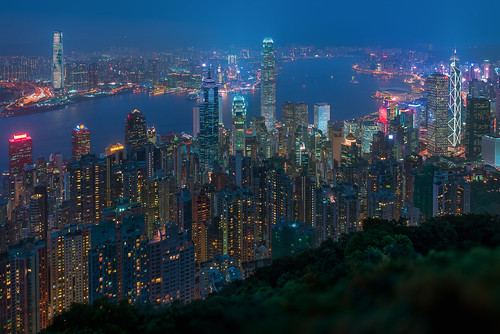 victoriapeak hongkong cityscape aerial night skyscrapers tourism glow city asia blue vista hour lugard