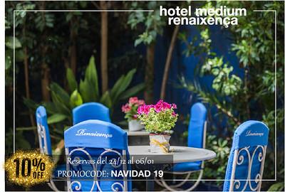 Dto. 10% en Rvas 24/12/19-6/1/20 Hotel Medium Renaixença
