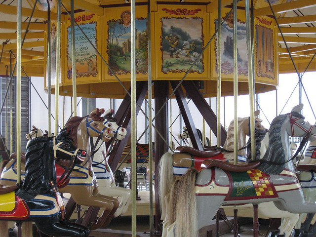 Charles Dare Horses on the 1892 Armitage-Herschell Carousel - Geelong Waterfront Esplanade