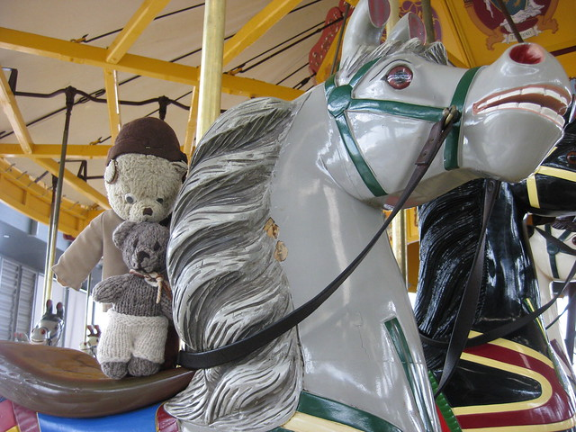 Paddington and Scout go for a Ride on a Armitage-Herschell Merry-Go-Round