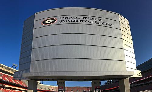 Sanford Stadium. University of Georgia