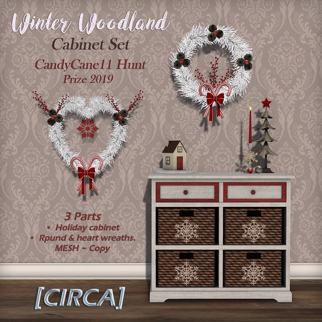 "Candy Cane Hunt 11 | [CIRCA] - ""Winter Woodland"" Cabinet Set - Hunt Prize 2019"