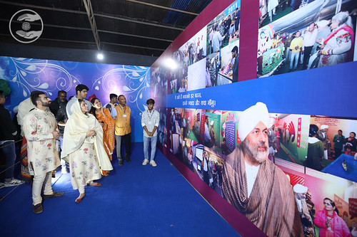 Her Holiness viewing the Exhibition