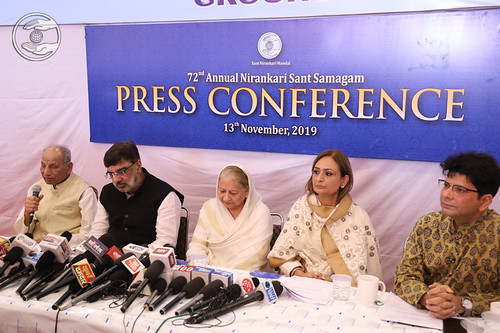 Roshan Minar Kirpa Sagar Ji briefing the Media