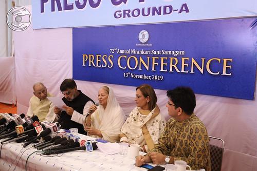Raj Kumari, EC Member Press and Publicity presiding the Press Conference