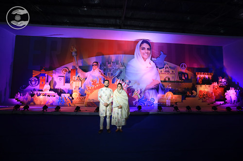Her Holiness and Rev Ramit Ji in the Exhibition
