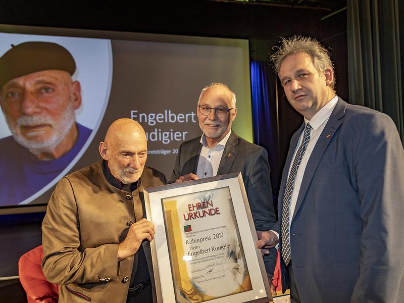 Kulturpreisverleihung an Engelbert Rudigier