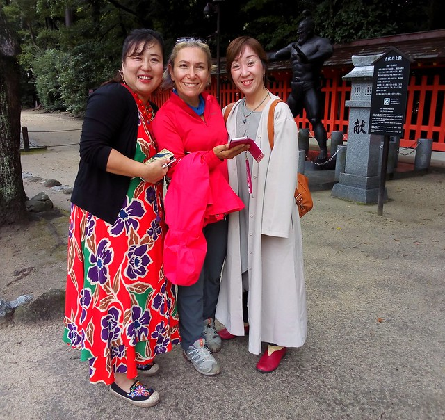 These two women, from Kumamoto and Oita, were quite fun. by bryandkeith on flickr