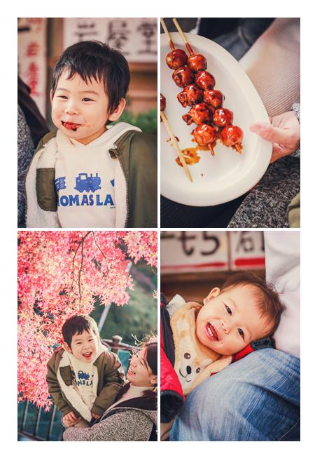 愛知県瀬戸市の紅葉の名所 岩屋堂 食事処 五平餅 みたらし団子