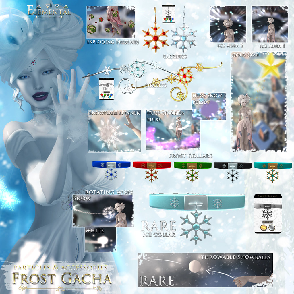 -Elemental 'Frost' Particles and Accessories Gacha Advert