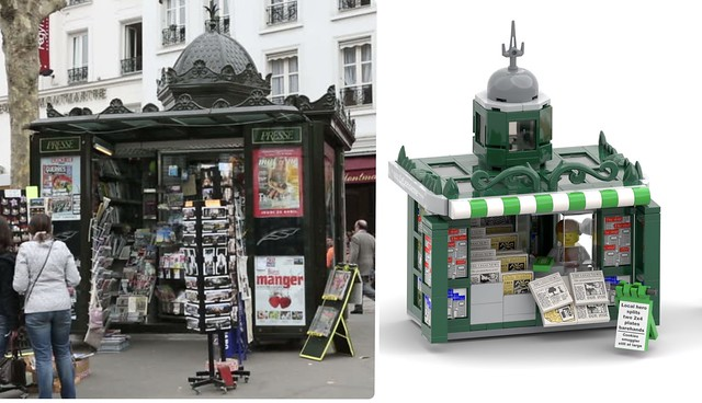 My inspiration for the newspaper kiosk
