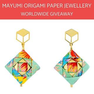 Mayumi Origami Mosaic Earrings