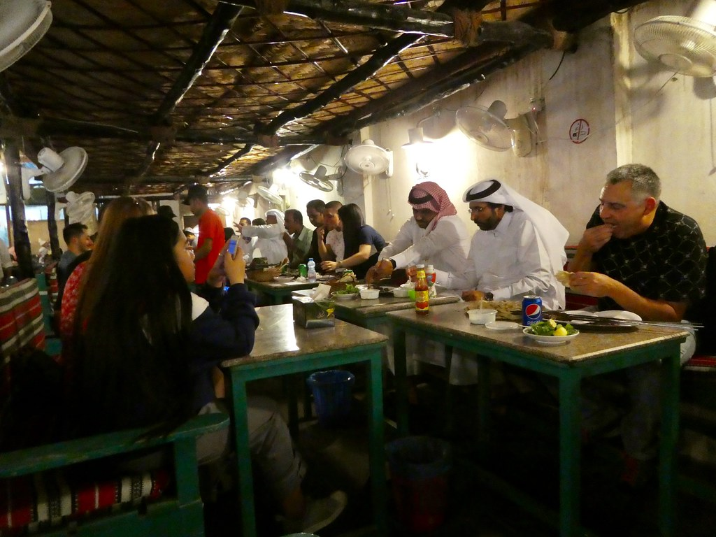 Souq Waqif popular kebab restaurant  Doha