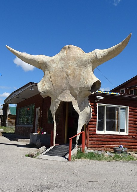 WY, Dubois-U.S. 26 Giant Skull