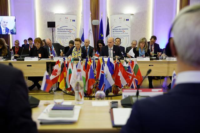 Réunion des ministres de l'Éducation du Conseil de l'Europe dans le cadre de la présidence française de l'Organisation