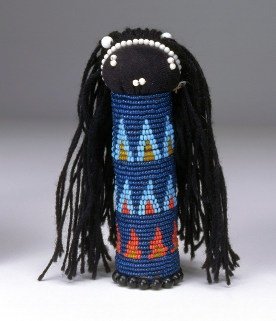 South African Zulu Tribe Traditional Sangoma Beaded Doll Toy