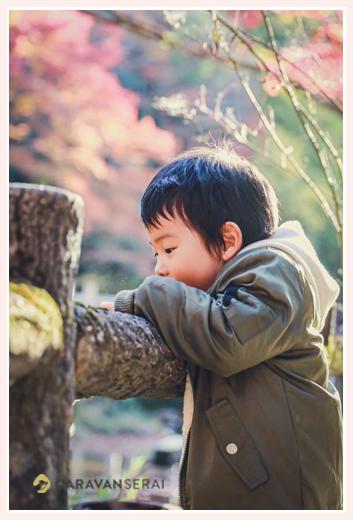 3歳の男の子の横顔 かわいい♡