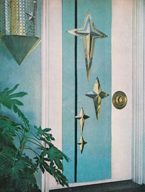 Better Homes Atomic Christmas Door Design 1960