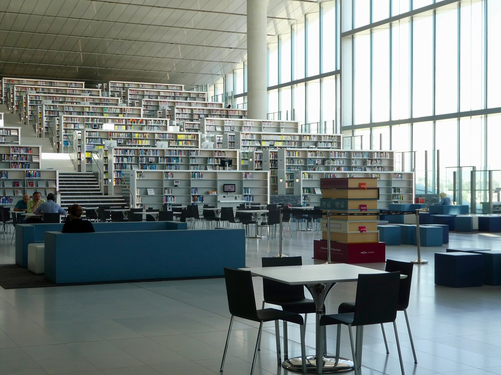 Interior of the Qatar National Library Doha