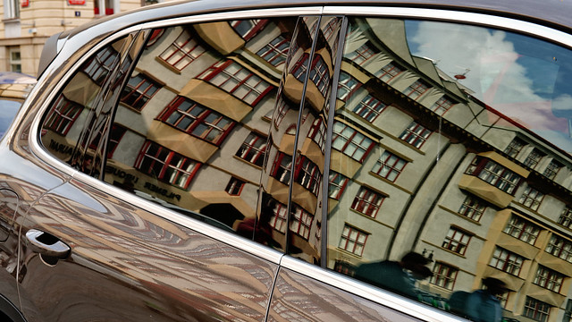 Reflection in Car