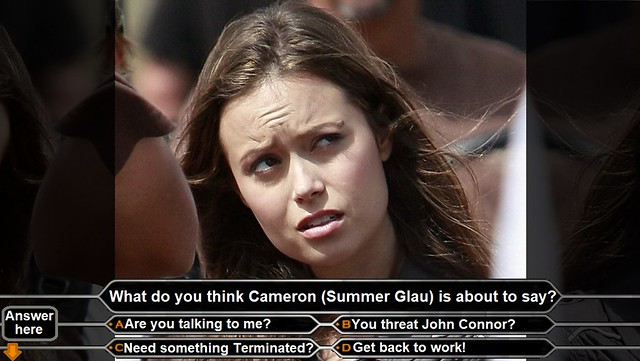 Summer Glau about to say