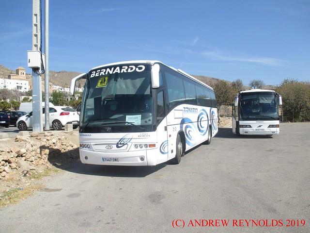 2019 022402 MERCEDES BEULAS COACH AUTOCARES BERNADO ALMERIA 7447DWC AT NIJAR