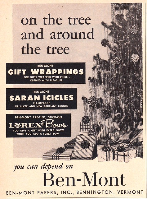 Vintage Ben-Mont Gift Wrappings Ad 1960