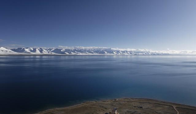 Nyenchen Tanglha mountain range and Lake Namtso, Tibet 2019