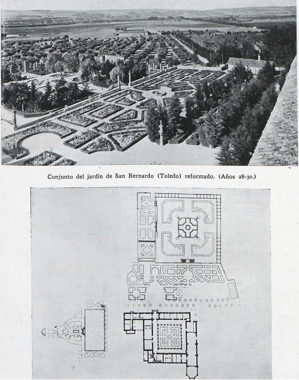 Monasterio de San Bernardo y plano en planta tras la reforma de 1928-1930