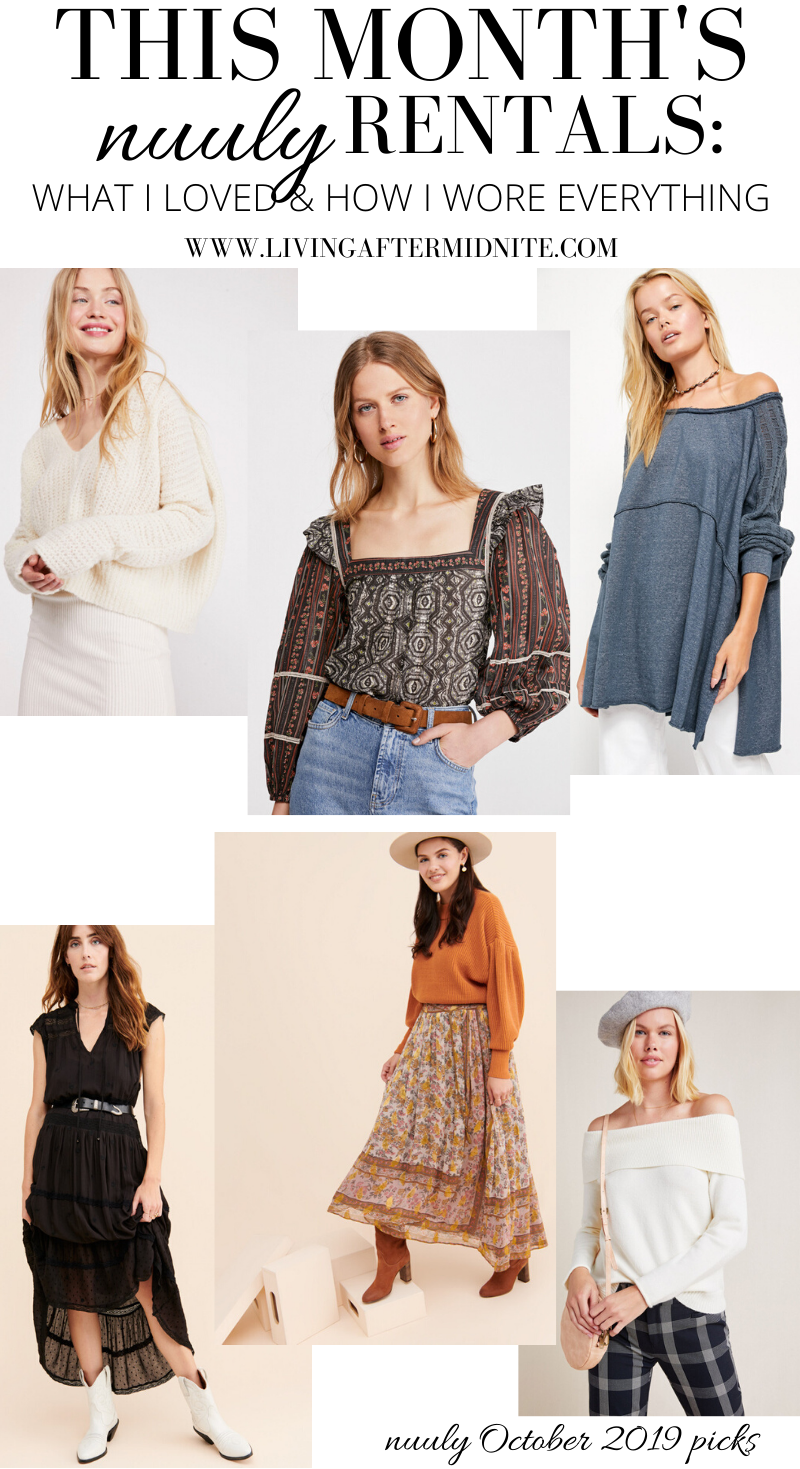 This Month's nuuly Rentals - What I Loved & How I Wore Everything - Free People Anthropologie