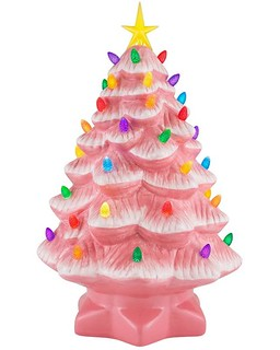 pink ceramic tree
