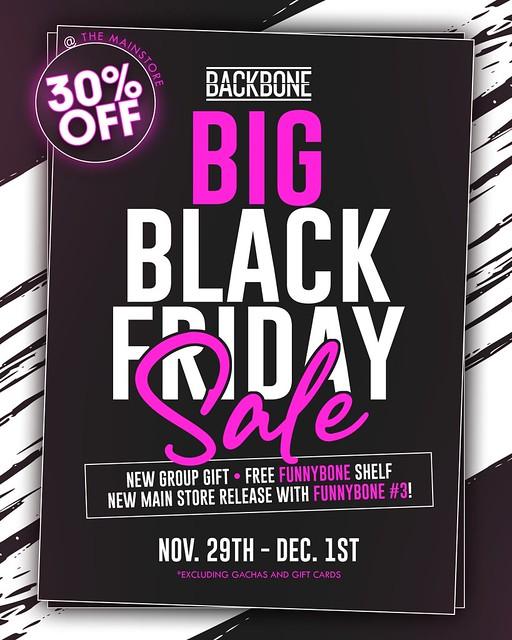 BackBone Big Black Friday Sale