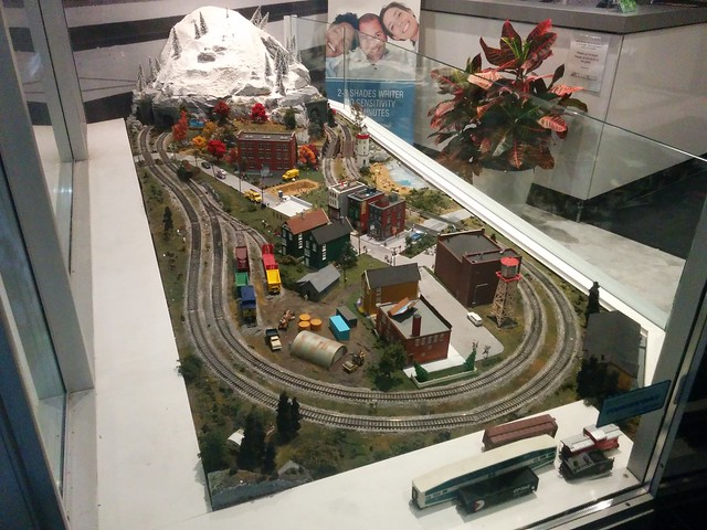 Miniature railroad (3) #toronto #thejunction #dundasstreetwest #mintdentistry #modelrailroad #miniaturerailway #model #village #latergram