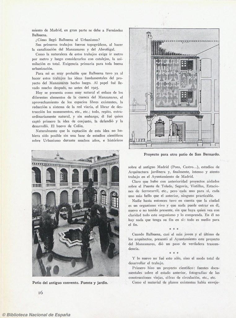 Artículo de O. Czekelius sobre la reforma realizada por Fernández Balbuena en el monasterio de San Bernardo o de Montesión y sus jardines (1928-1930). Biblioteca Nacional de España.
