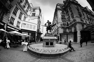Paris, place Edouard 7, B&W, 16