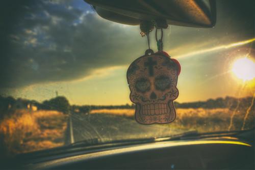 skull airfreshener sunset harlowcommon harlow essex candy sugar