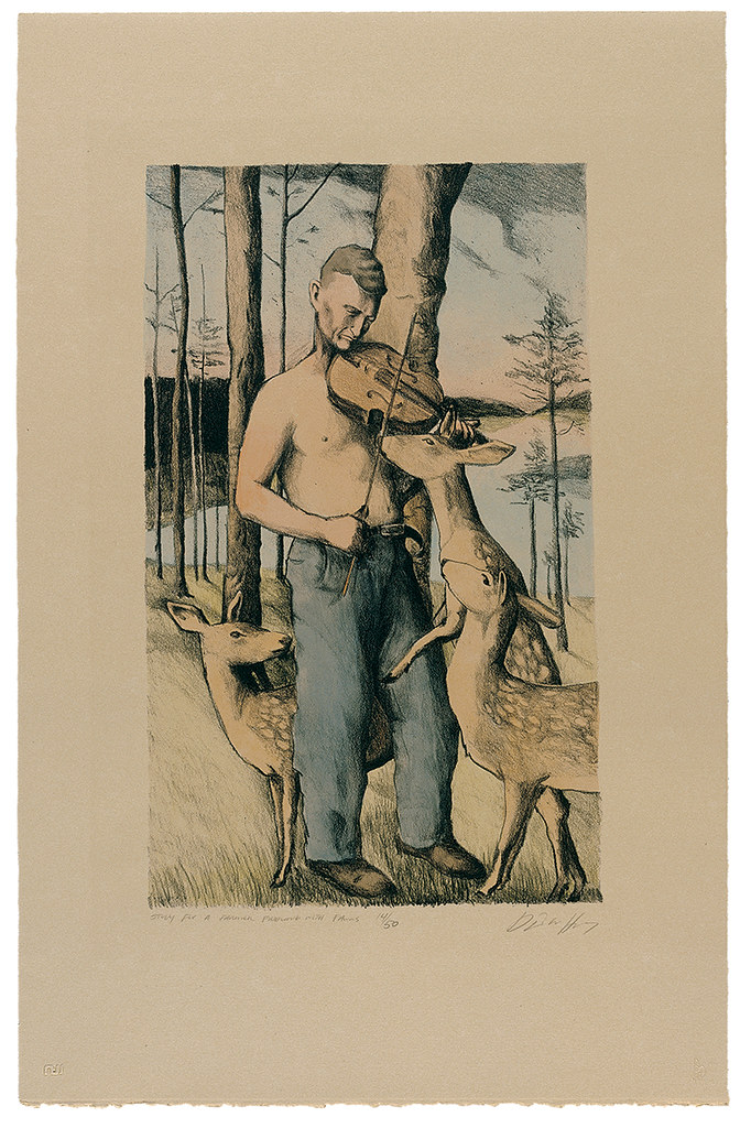 Study for a Farmer Fiddling with Fawns